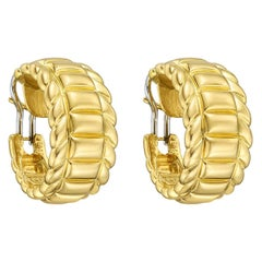 Gubelin 18 Karat Yellow Gold Hoop Earrings