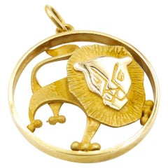 Gübelin 18 Karat Yellow Gold Leo Astrology Zodiac Pendant/Charm