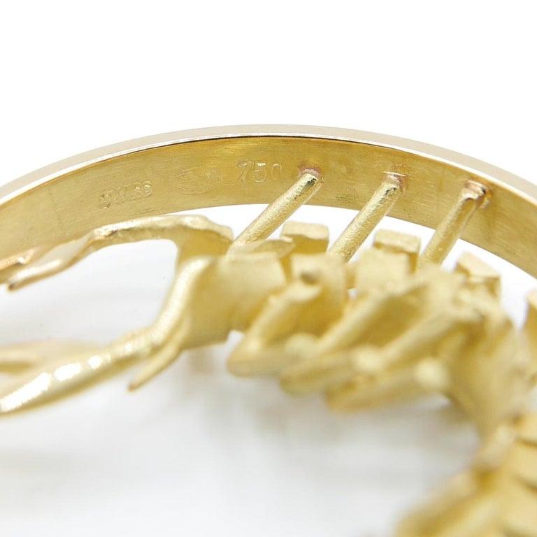 Modern Gübelin 18 Karat Yellow Gold Scorpio Zodiac Astrological Symbol Pendant/Charm For Sale