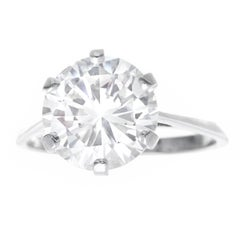 Gubelin Art Deco 3.86 Carat Diamond Engagement Ring G VS1 SSEF Lab Report