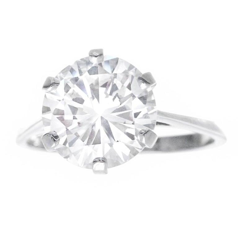 Gubelin Art Deco 3.86 Carat Diamond Engagement Ring G VS1