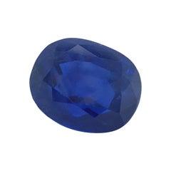 Gübelin Certified Unheated Burma Sapphire of 9.62 Carat