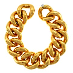 Gübelin Curb Link Yellow Gold Bracelet