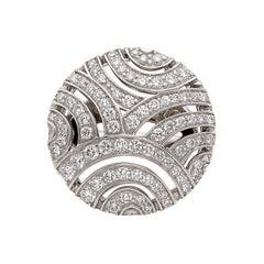Gubelin Diamond and 18 Karat White Gold Ring