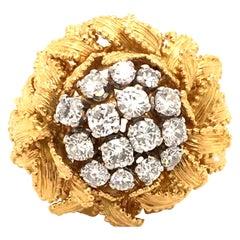 Gubelin Diamond Ring in 18 Karat Yellow and White Gold