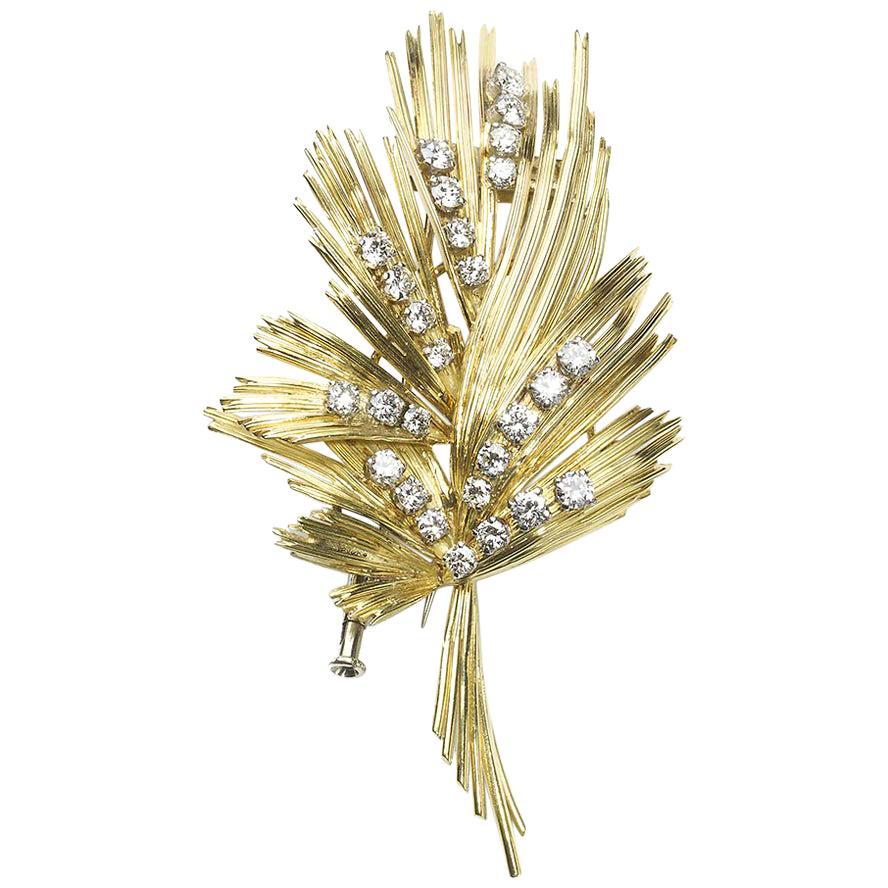 Gübelin Gold and Diamond Brooch