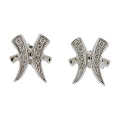 Gubelin Gold Diamond Pisces Zodiac Sign Stud Earrings