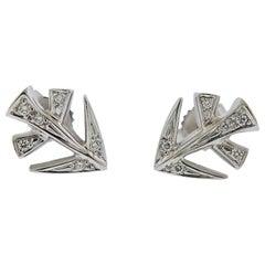 Gubelin Gold Diamond Sagittarius Zodiac Sign Stud Earrings