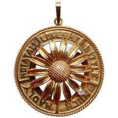 Gübelin Mechanical Gold and Diamond Love Charm