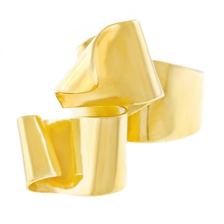 "Gubelin Modernist ""Ribbon"" Gold Ring"