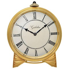Gubelin of Switzerland Art Deco Desk Clock, circa 1930s