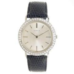 Gubelin Platinum Diamond Mechanical Dress Wristwatch, Circa 1960
