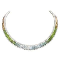 Gubelin Rainbow Necklace in White Gold 18 Karat
