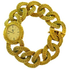 Gubelin Yellow Gold Bracelet Mechanical Wristwatch