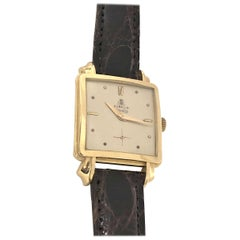 Gubelin Yellow Gold Oversize 1940s Gents Mechanical Wristwatch