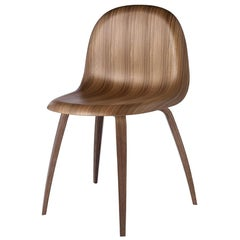 Gubi 3D Dining Chair in American Walnut by Komplot Design