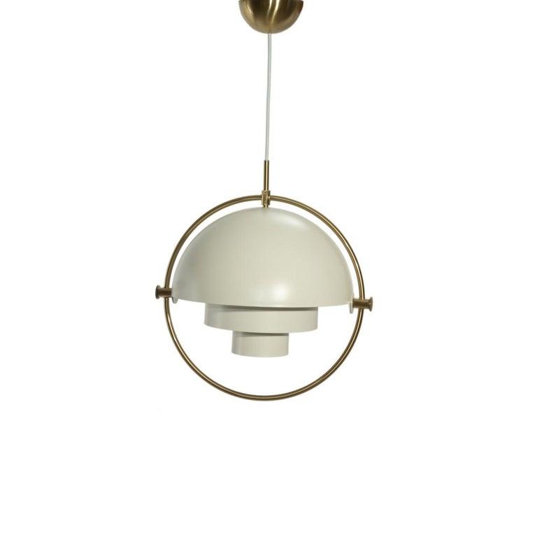 Mid-Century Modern Gubi Multi-Lite Pendant Light by Louis Weisdorf For Sale