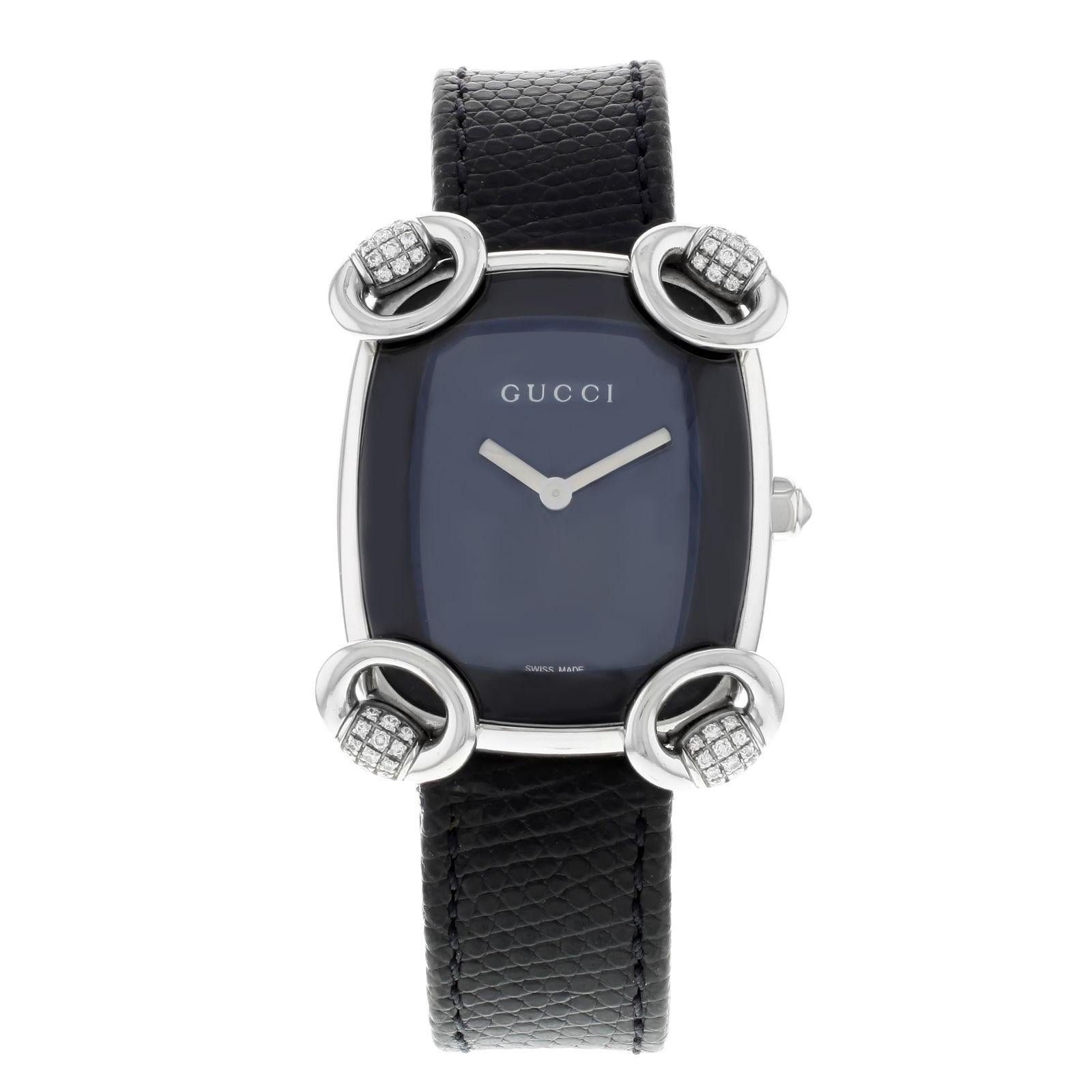88bf7b5e9b0 Gucci 5500L White Dial Two-Tone Stainless Steel Quartz Ladies Watch YA055528  For Sale at 1stdibs