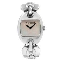 Gucci 121 Marina Chain MOP Dial Steel Quartz Ladies Watch YA121302 Zoho Synced