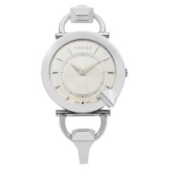 Gucci 122.5 Chiodo Stainless Steel Silver Dial Quartz Womens Watch YA122508