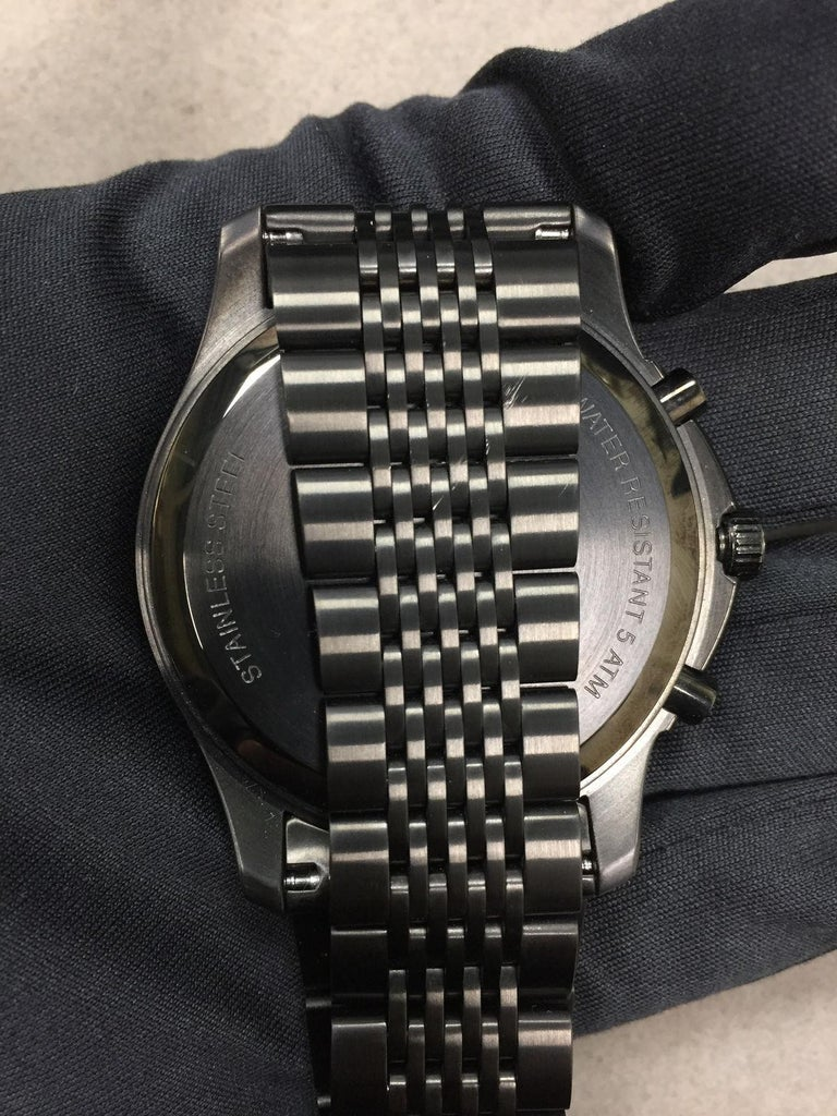 e6a06171d8f Gucci 126 Black PVD Steel Chrono Tachymeter Quartz Men s Watch YA126217 For  Sale 3