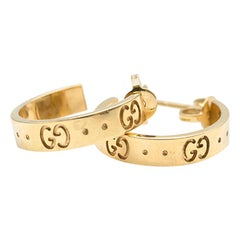 Gucci 18 Carat Gold Icon Earrings