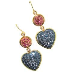 Gucci 18 Karat, Diamond and Ruby Earrings