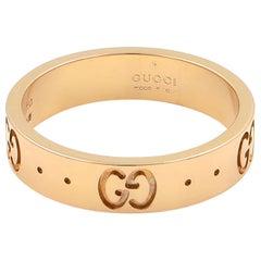 Gucci 18 Karat Rose Gold Icon Thin Band Ring