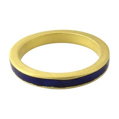Gucci 18 Karat Yellow Gold and Enamel Ring