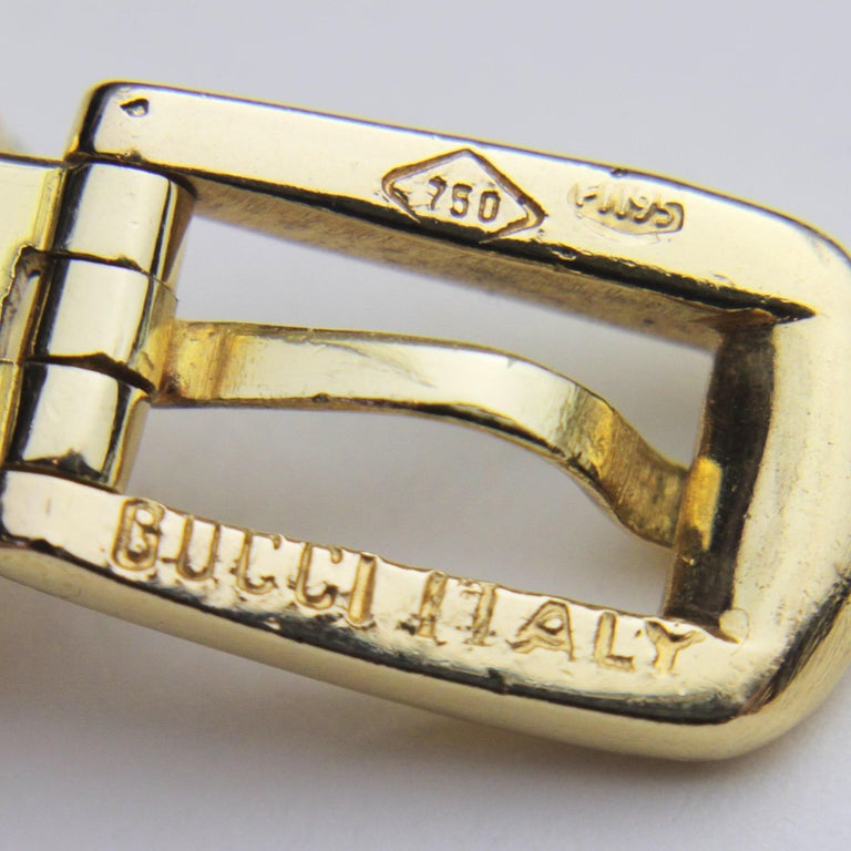 Modern Gucci, 18 Karat Yellow Gold Belt Buckle Bracelet For Sale