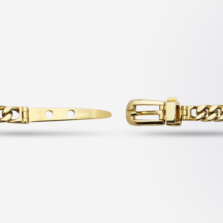 Gucci, 18 Karat Yellow Gold Belt Buckle Bracelet In Good Condition For Sale In Brisbane, AU