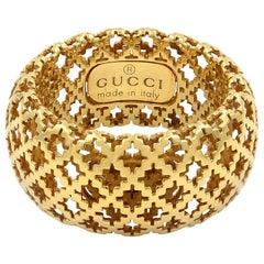 Gucci 18 Karat Yellow Gold Diamantissima Iconic Ring