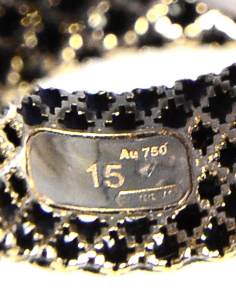 Gucci 18K Yellow Gold/Black Enamel Diamantissima Ring sz 7.5 rt $995 For Sale 1