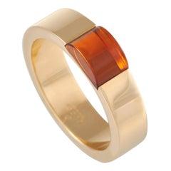 Gucci 18k Yellow Gold Citrine Band Ring
