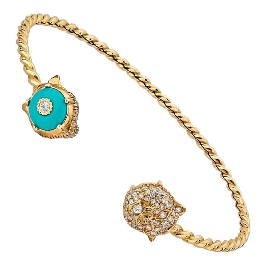 Gucci 18 Karat Gold Le Marché des Merveilles Reversible Bracelet YBA554275001