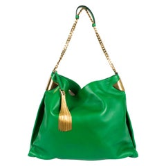 Gucci 1970 Medium Shoulder Bag - green leather/gold
