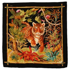 Gucci 1970´s Tiger silk scarf