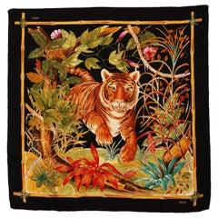 Gucci 1970´s Tiger silk scarf