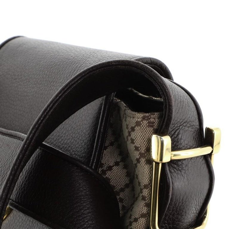 Gucci 1973 Satchel Diamante Canvas and Leather Medium For Sale 3