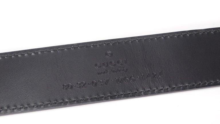 Gucci 1980s Black Dionysus Leather Belt  For Sale 2