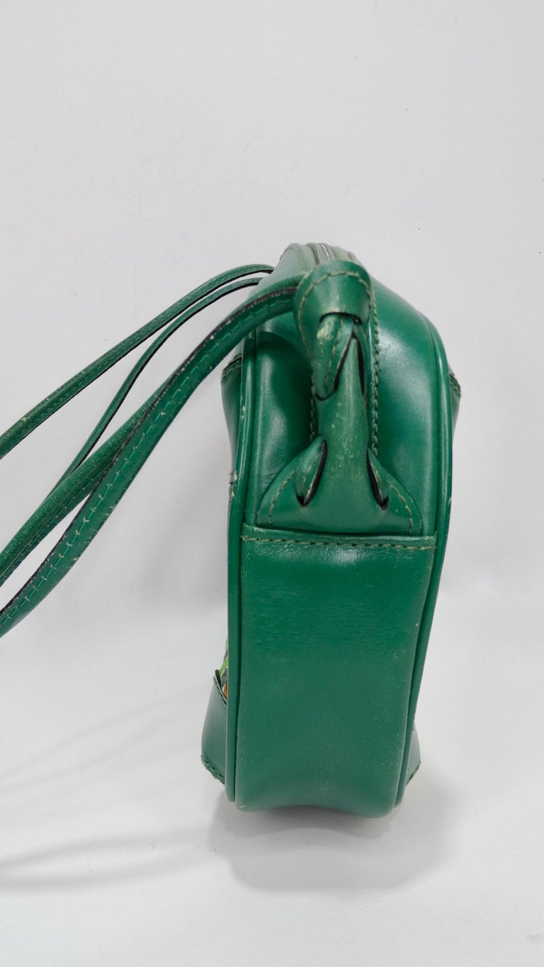 Beige Gucci 1980s Flora Crossbody Bag For Sale