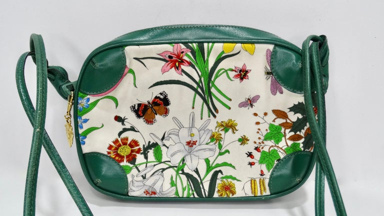 Gucci 1980s Flora Crossbody Bag In Good Condition For Sale In Scottsdale, AZ