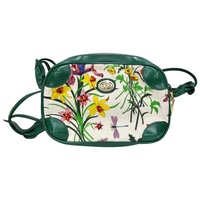 Gucci 1980s Flora Crossbody Bag For Sale