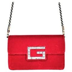 Gucci 2018 Broadway Mini Velvet Flap Bag