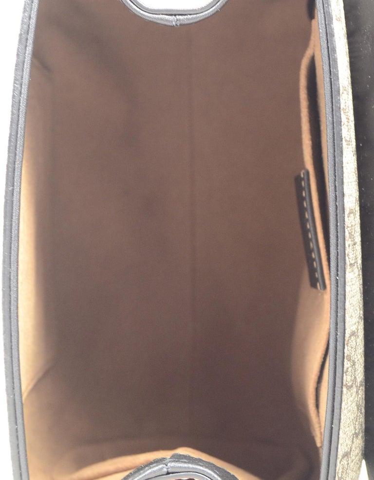 22f4fa3e26c5 Gucci 2019 Monogram GG Supreme Canvas & Leather Padlock Backpack Bag For  Sale 1