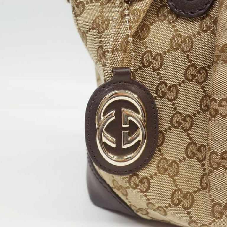 GUCCI 2way shoulder bag Womens tote bag 247902 beige x brown For Sale 3