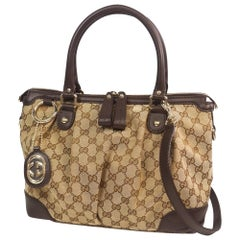 GUCCI 2way shoulder bag Womens tote bag 247902 beige x brown