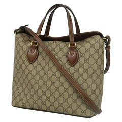 GUCCI 2WAY shoulder Womens handbag 429147 beige x brown