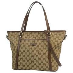 GUCCI 2WAY tote Womens shoulder bag 388929 beige x brown