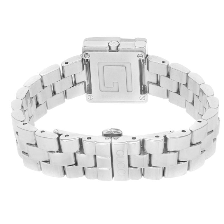 69ee7bc4b98 Women s Gucci 3600L Square Face Silver Dial Steel Quartz Ladies Watch  YA036504 For Sale